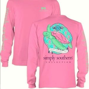 PREPPY SIMPLY SOUTHERN LONG-SLEEVE TEE